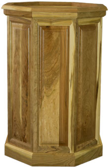 Rustic Cherry Raised Panel Taxidermy Pedestal