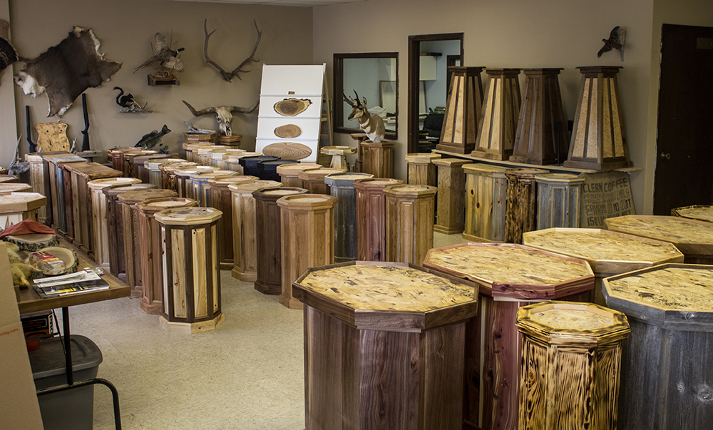 Visit our showroom full of unique taxidermy pedestal bases