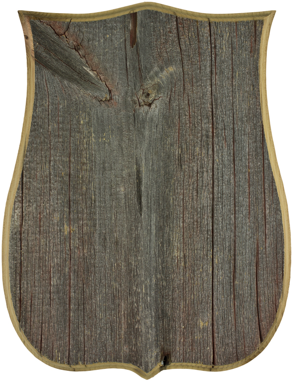 "Gray Barnwood Badge Panel 9 1/2"" X 12 1/2"""