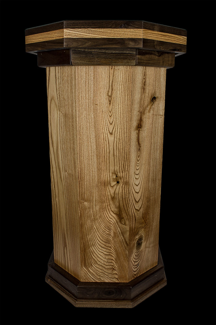 Coffee Wood Walnut Two Tone Pedestal Cwg1004 0 00