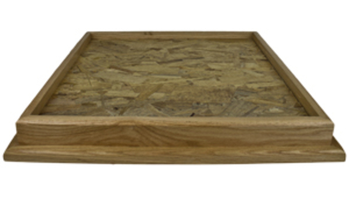 "Oak 22"" X 22"" Square Table Top Habitat Base"