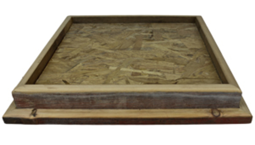 "Gray Barnwood 24"" X 24"" Square Table Top Habitat Base"