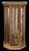Rustic Black Walnut Raised Panel Pedestal