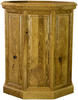 "Raised Panel 20"" Oak Pedestal"