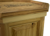 "Raised Panel 20"" Rustic Hickory Pedestal"