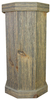 Classic Gray Weathered Wood Pedestal