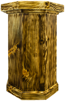 Tiger Maple Taxidermy Pedestal