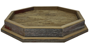 "Gray Barnwood 12"" X 12"" Octagon Table Top Habitat Base"