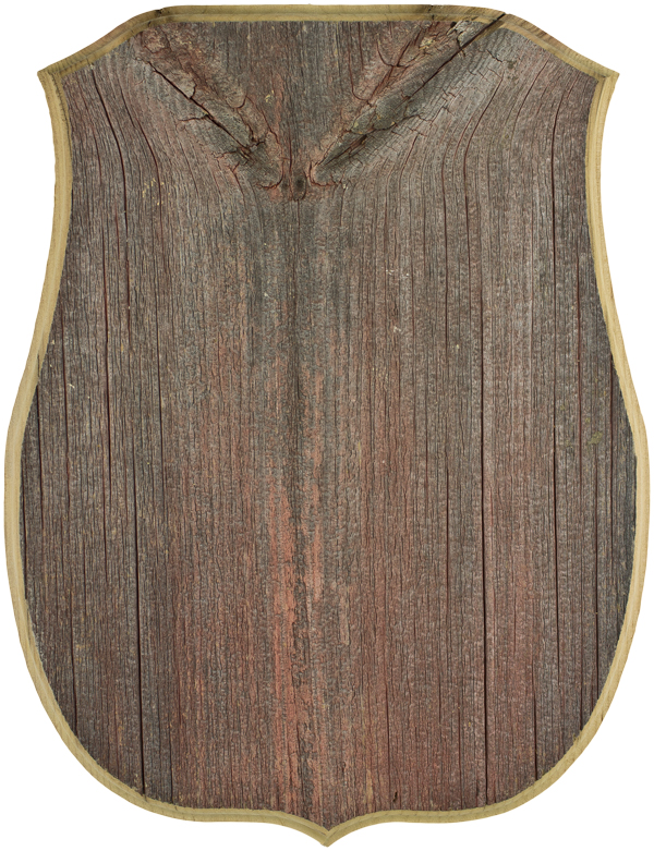 "Gray Barnwood Shield Panel 9 1/2"" X 12 1/2"""